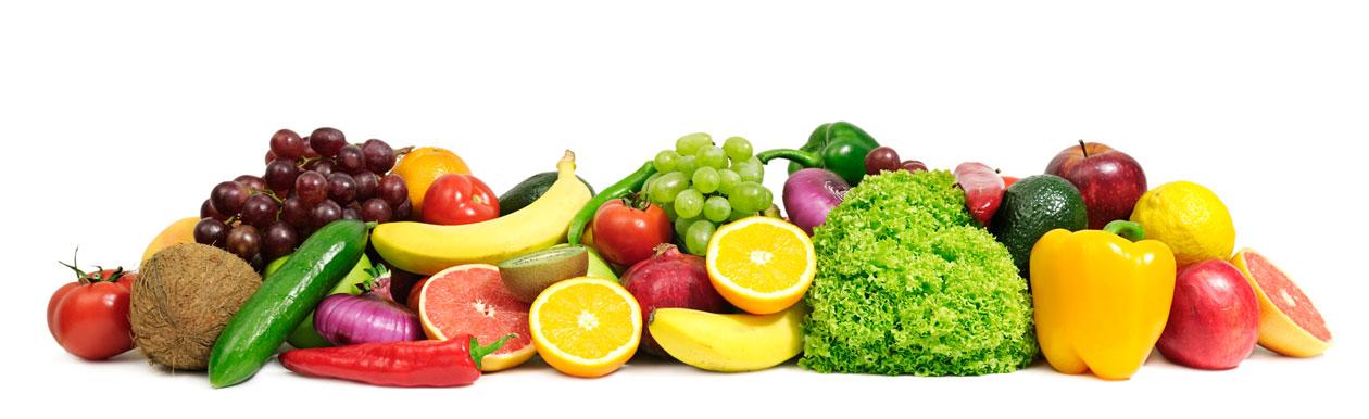 Изображение фруктов и овощей