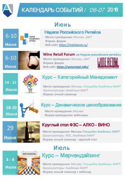 Календарь Академии МАРТ